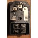 Prise IEC mâle à monter sur panneau + interrupteur + fusible
