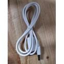Rallonge USB blanche 1 mètre
