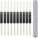 Lot de 10 interrupteurs reed (ILS) en plastique et 20 petits aimants ronds multi-usages